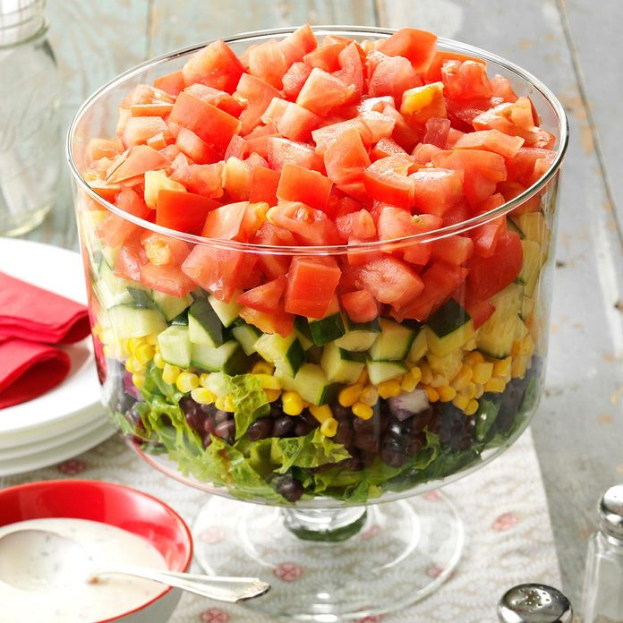 Layered Garden Bean Salad