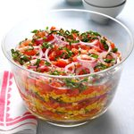 Layered Grilled Corn Salad