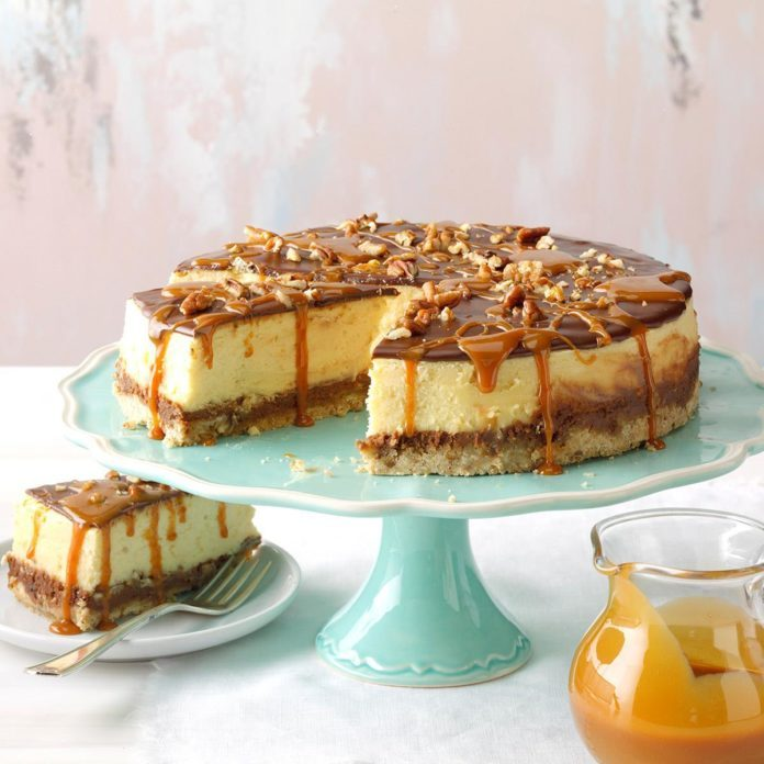 Layered Turtle Cheesecake