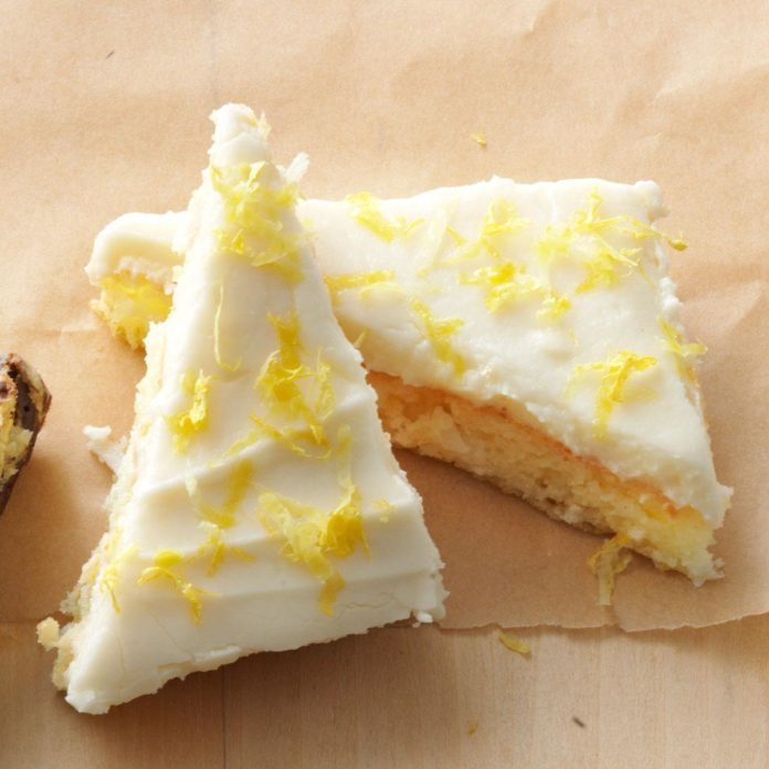 Lemon Angel Cake Bars