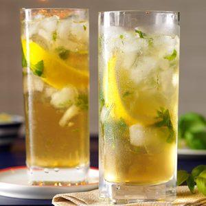 Lemon-Basil Mojito Mocktails