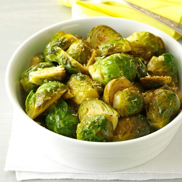 Lemon-Butter Brussels Sprouts