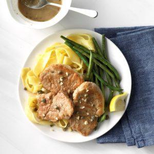 Lemon-Caper Pork Medallions