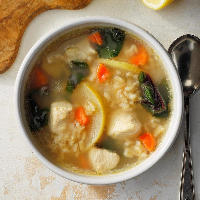 Inspired by: Panera's Lemon Chicken Orzo Soup