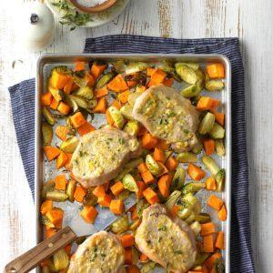 Lemon-Dijon Pork Sheet-Pan Supper