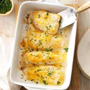 Lemon-Parsley Baked Cod