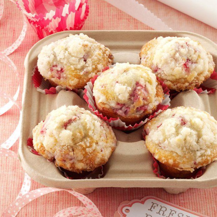 Lemon/Raspberry Streusel Muffins