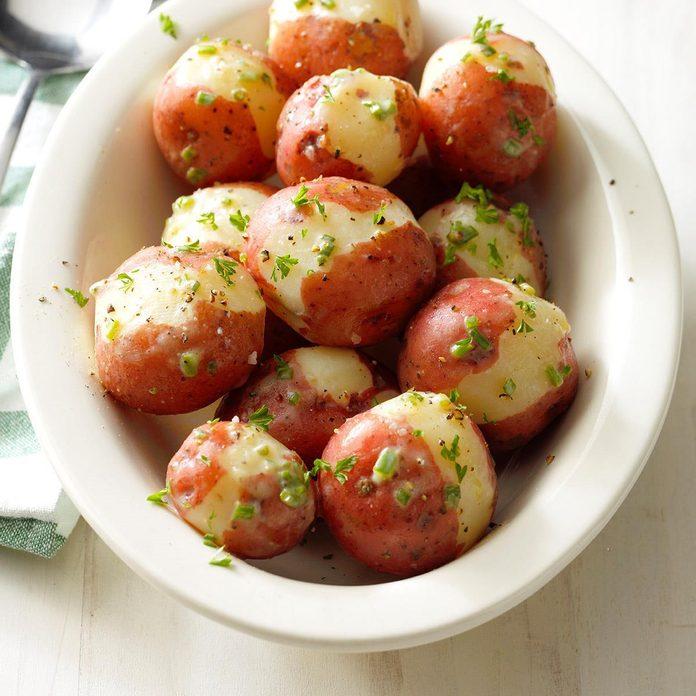 Spring Easter Lunch: Lemon Red Potatoes