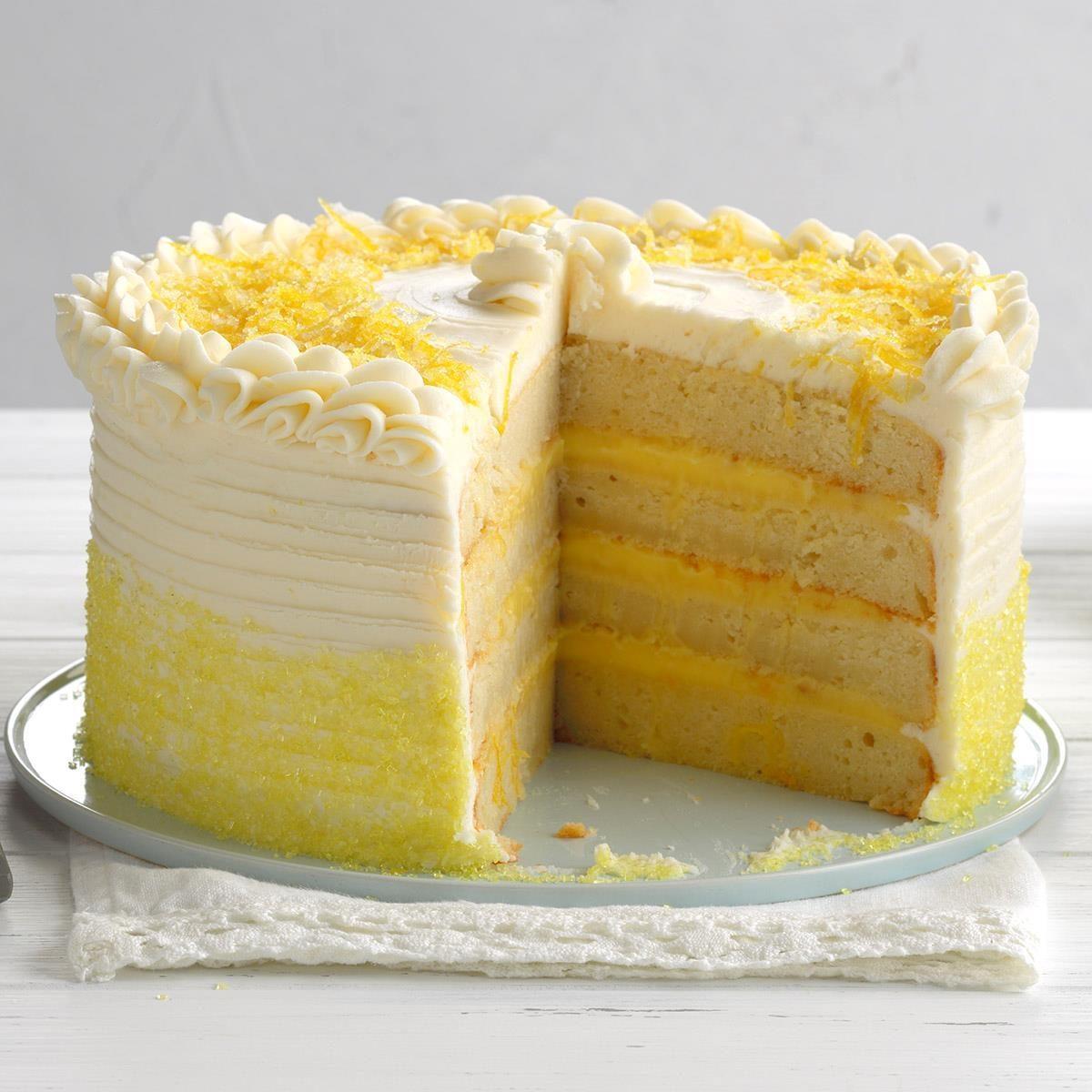 Cool Lemon Ricotta Cake Recipe Taste Of Home Funny Birthday Cards Online Inifodamsfinfo