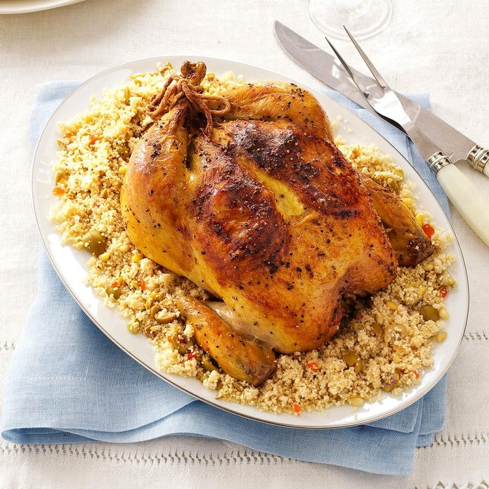 Day 26: Lemon-Roasted Chicken with Olive Couscous