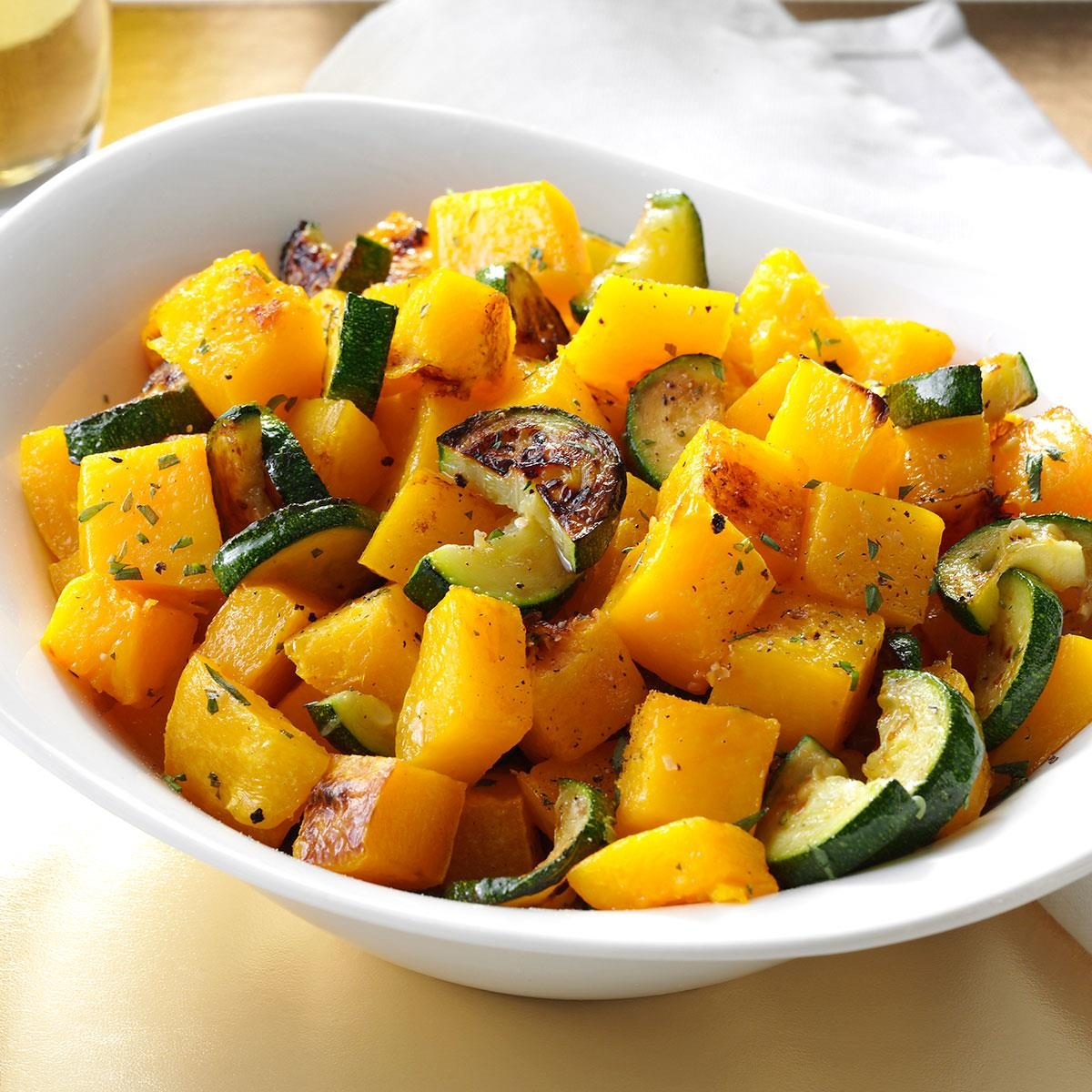 Lemon-Roasted Squash with Tarragon