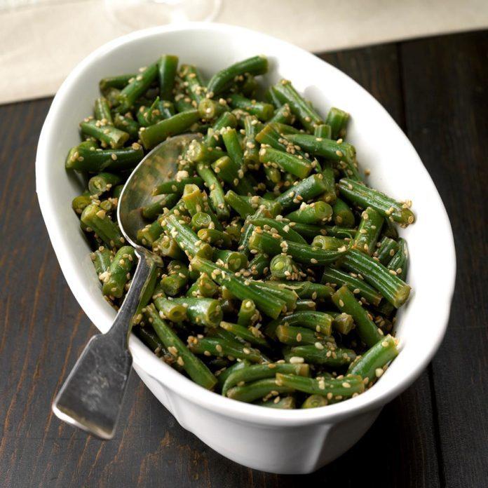 Lemon-Sesame Green Beans