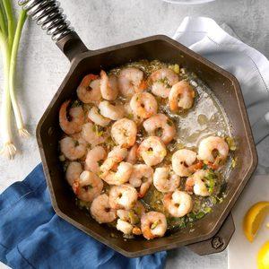 Lemon Shrimp with Parmesan Rice