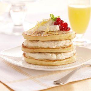 Lemon Ricotta Pancakes with Lemon Riccota Cream