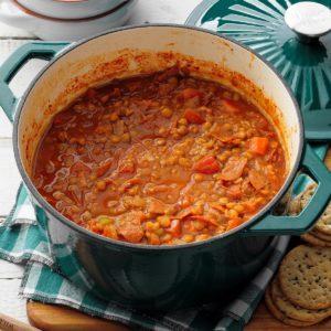 Lentil Pepperoni Stew