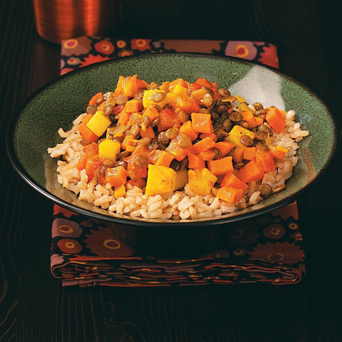 Lentil Sweet Potato Curry