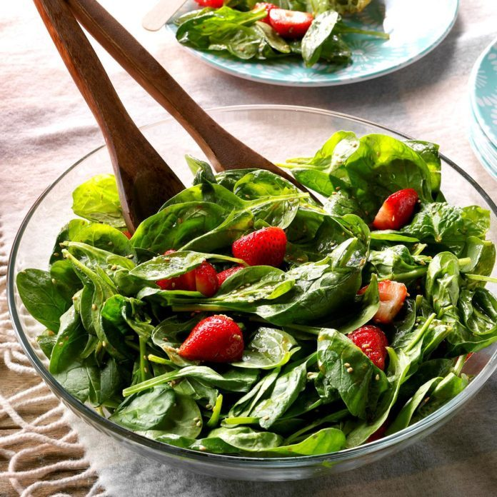 Superior Light Strawberry Spinach Salad Pictures Gallery