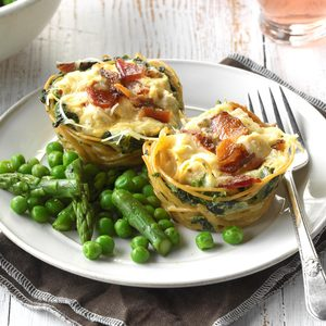 Loaded Chicken Carbonara Cups
