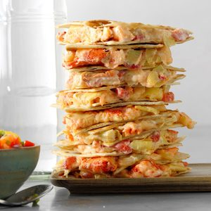 Lobster 'n' Artichoke Quesadillas