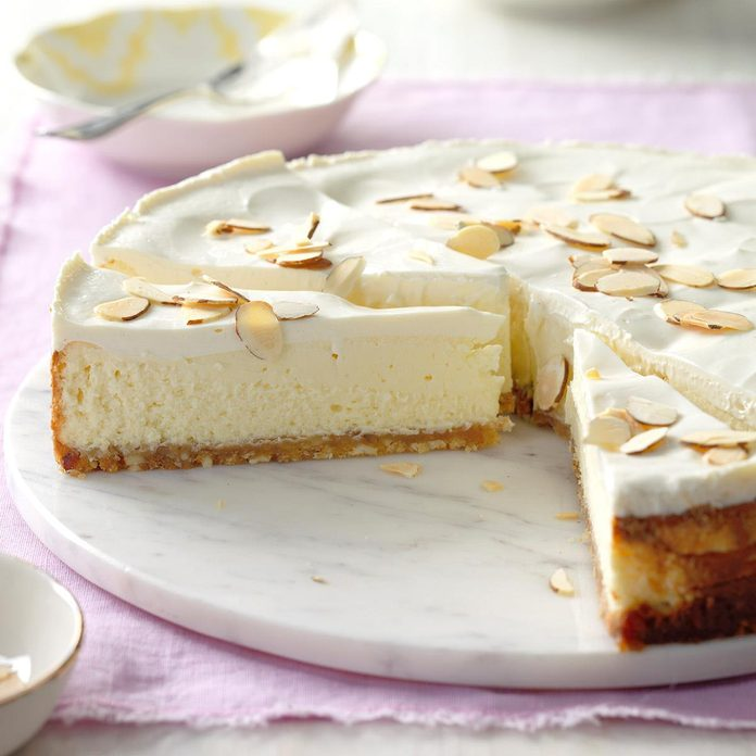 Luscious Almond Cheesecake