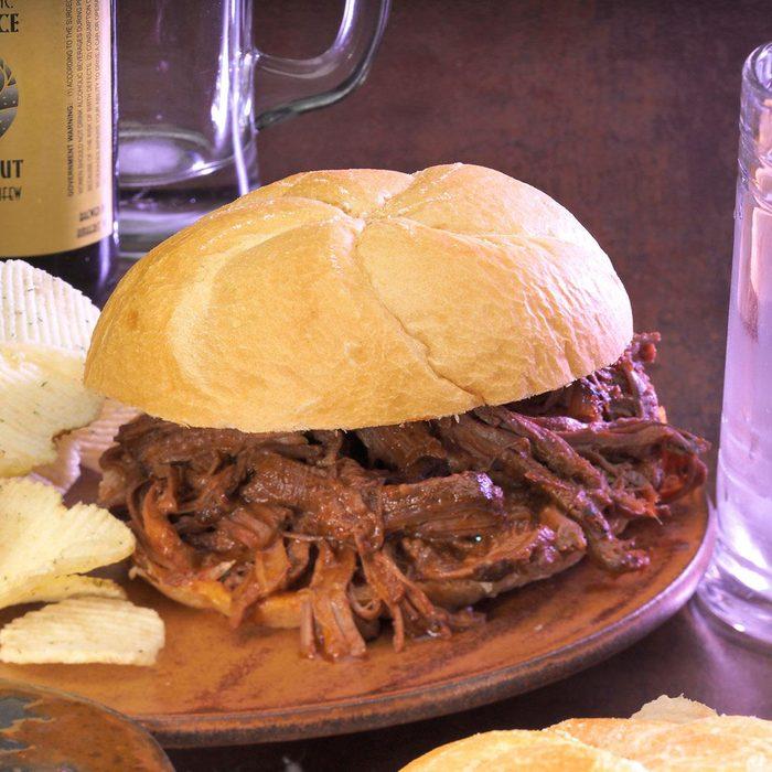 Machete Shredded Beef Sandwiches