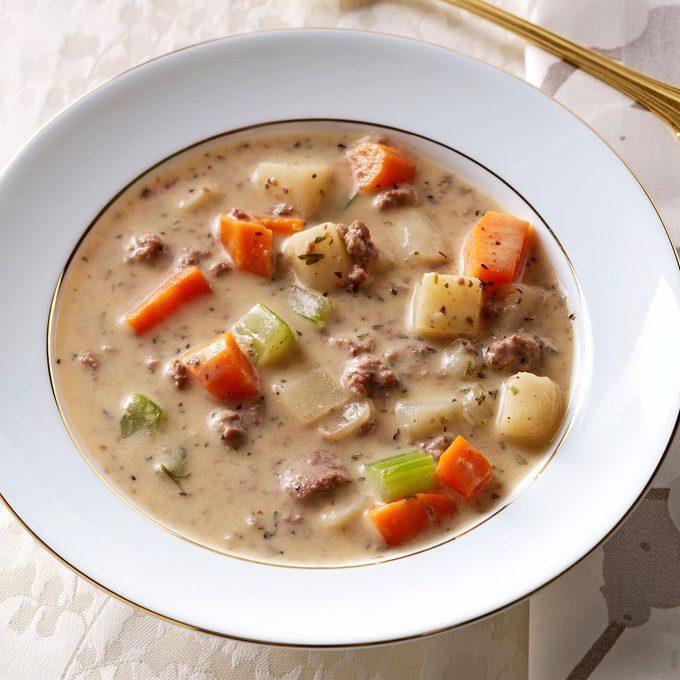 Makeover Beef & Potato Soup