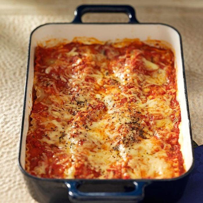 Makeover Beef & Sausage Lasagna