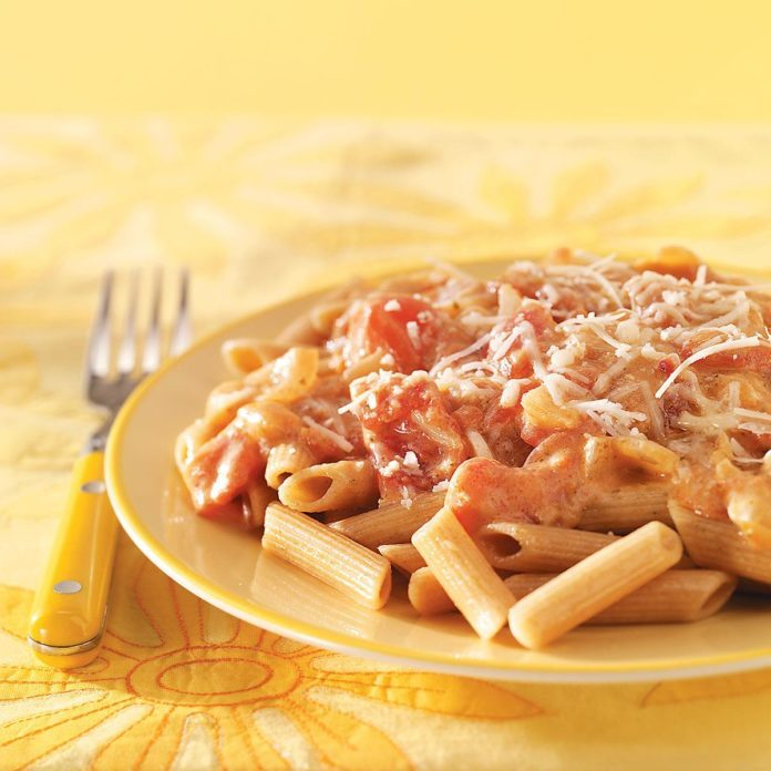 Makeover Penne with Vodka Cream Sauce