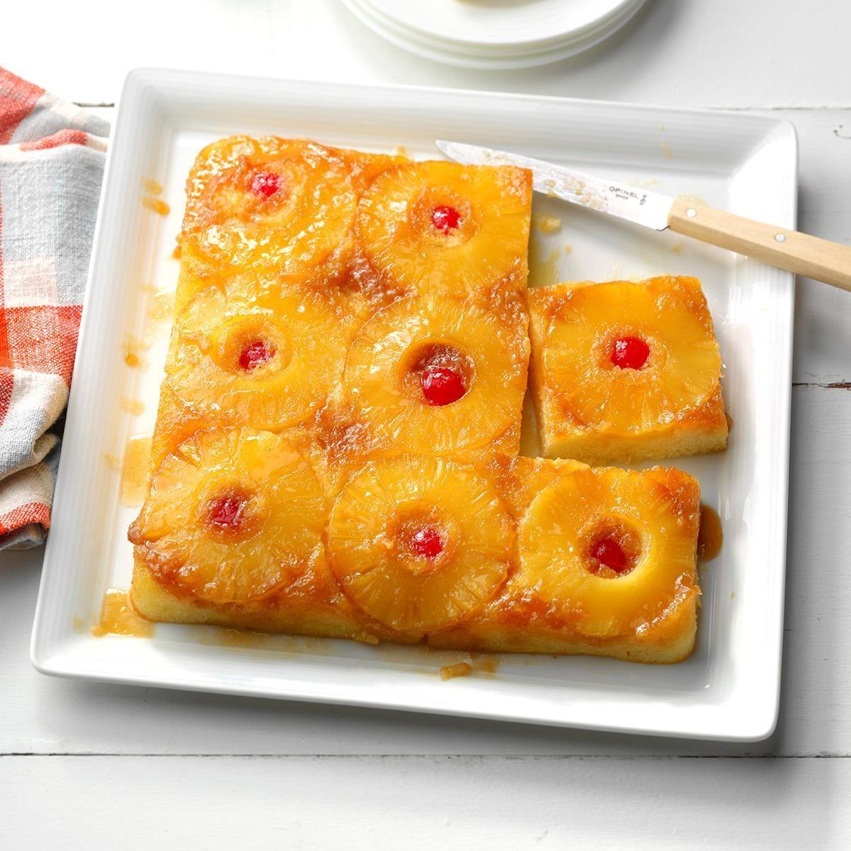 Makeover Pineapple Upside-Down Cake Recipe