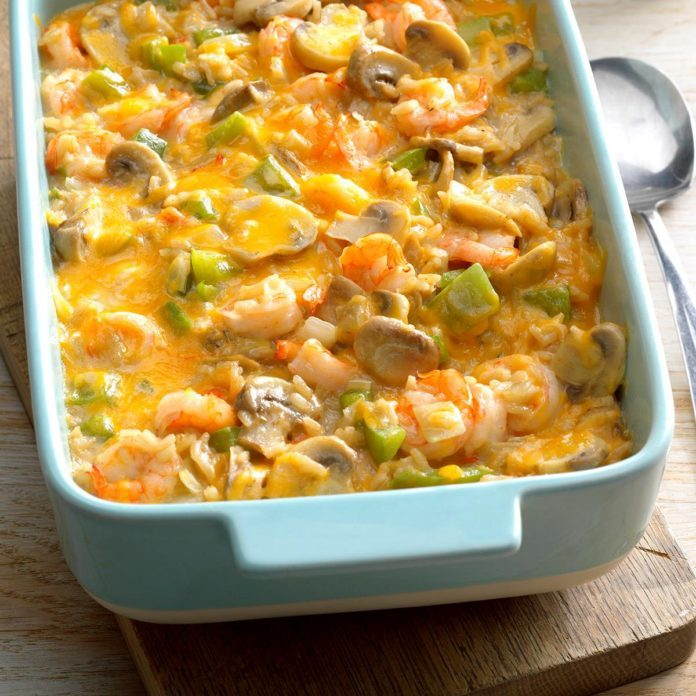 Makeover Shrimp Rice Casserole