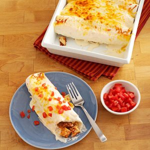 Makeover Sour Cream Chicken Enchiladas