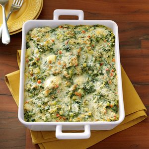 Makeover Spinach and Artichoke Casserole