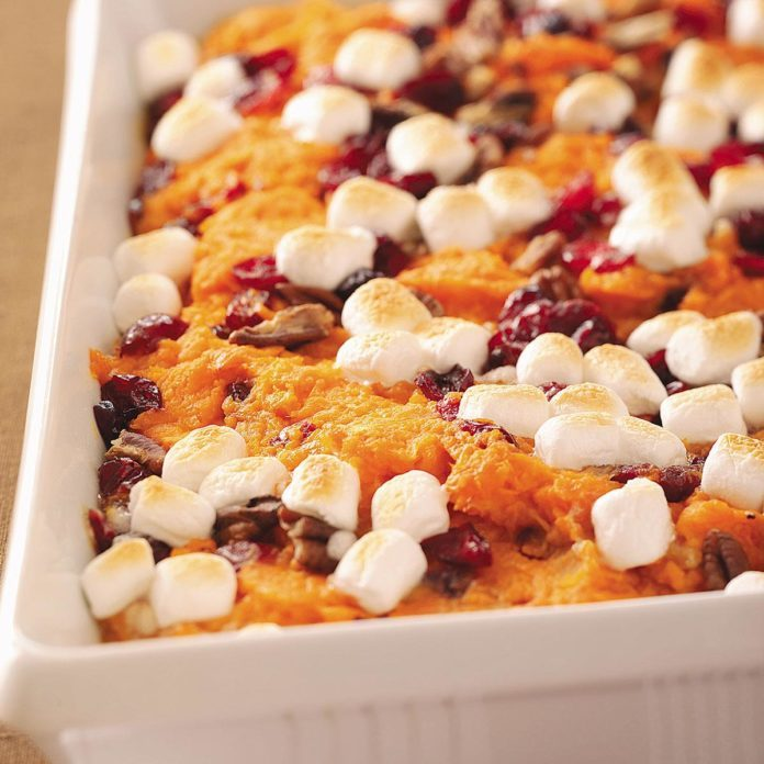 Mallow Sweet Potato Bake