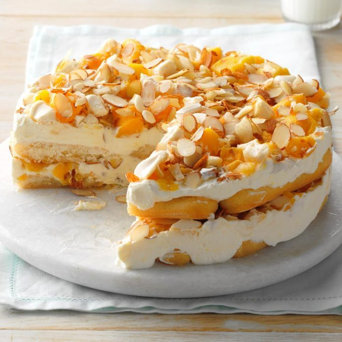 Mango Almond Icebox Cake