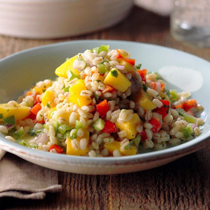 Mango Barley Salad