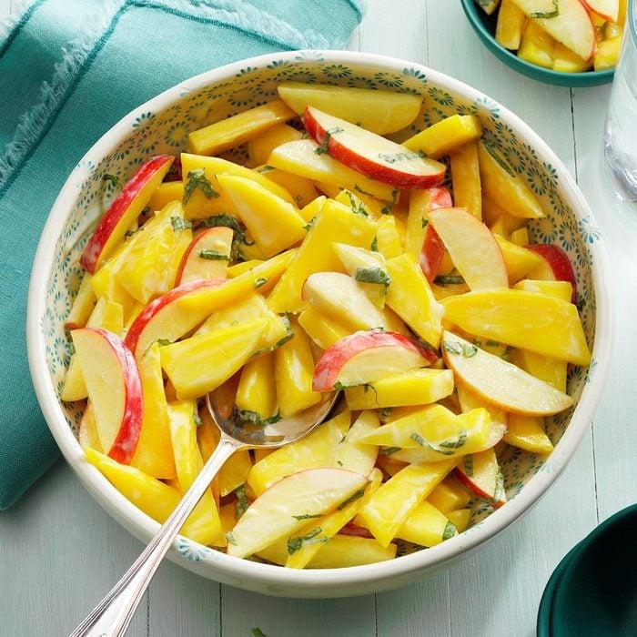 Mango Salad with Mint Yogurt Dressing