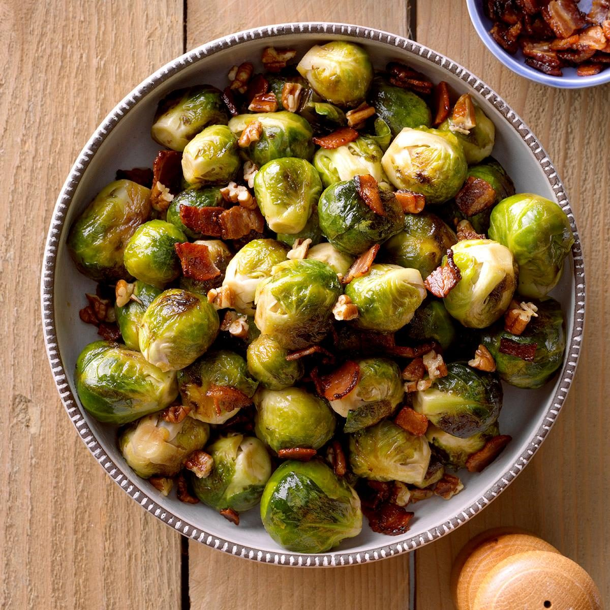 Maple & Bacon Glazed Brussels Sprouts Recipe