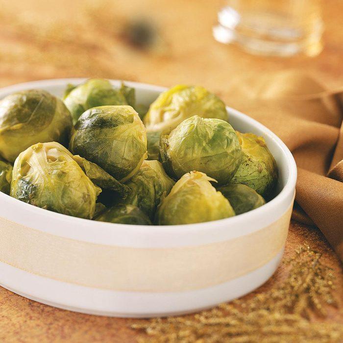 Maple-Dijon Glazed Brussels Sprouts