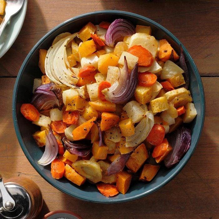 Maple-Gingerroot Vegetables