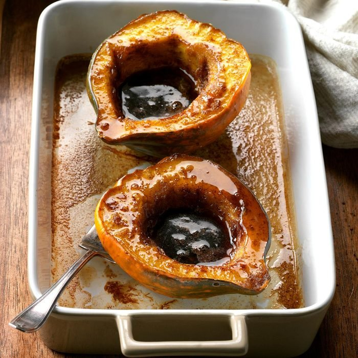 Vegan Maple-Glazed Acorn Squash