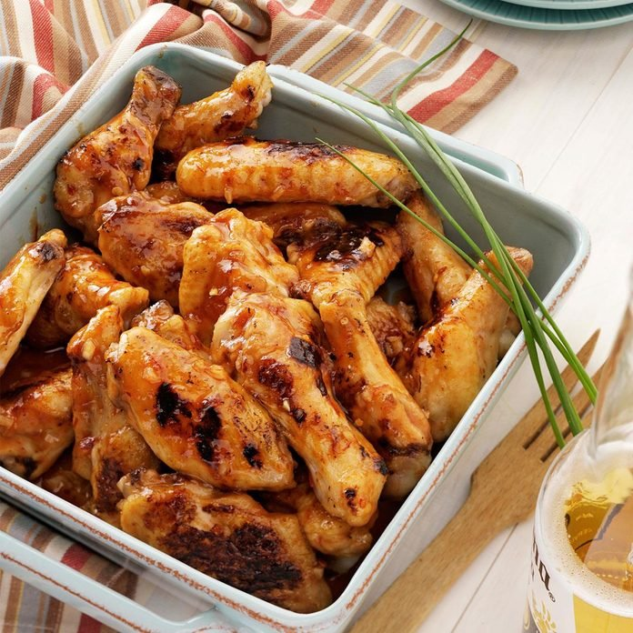 Vermont: Maple-Glazed Chicken Wings