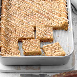 Maple-Glazed Cinnamon Chip Bars