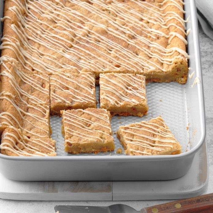 Maple-Glazed Cinnamon Chip Bars