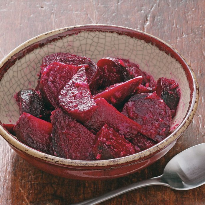 Maple Horseradish Beets for Two
