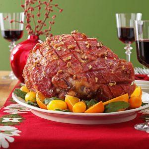 Maple-Pecan Glazed Ham