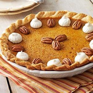 Maple Pumpkin Pie with a Crunch
