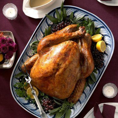 Maple sage brined turkey