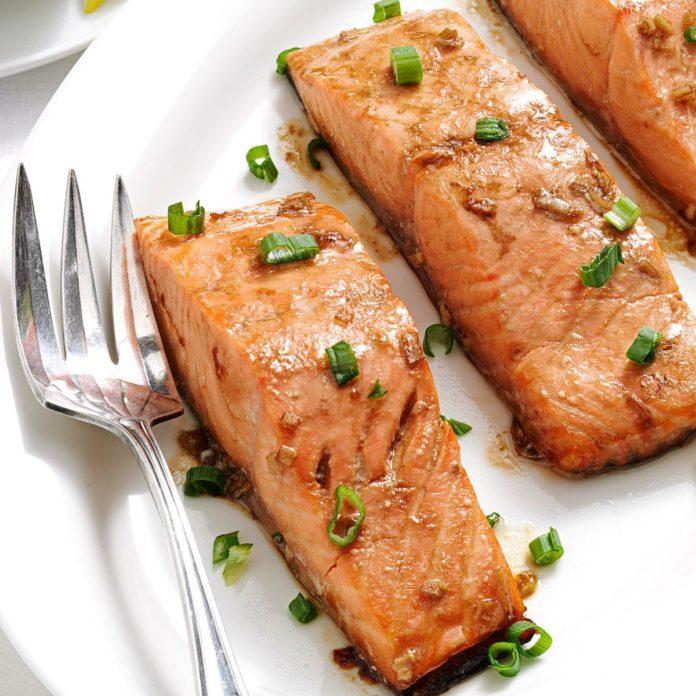 Maple Teriyaki Salmon Fillets