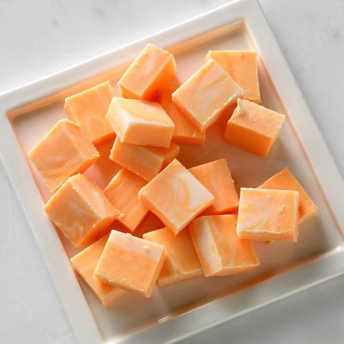 Marbled Orange Fudge