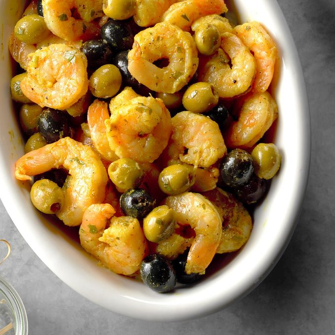 Marinated Shrimp and Olives